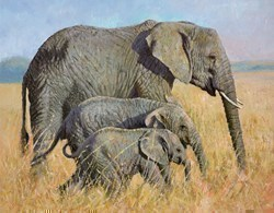 Family Outing by Tony Forrest - Canvas on Board sized 18x14 inches. Available from Whitewall Galleries