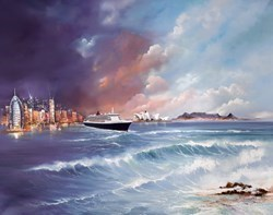 World of Memories - Queen Mary II 2013 by Philip Gray -  sized 34x27 inches. Available from Whitewall Galleries