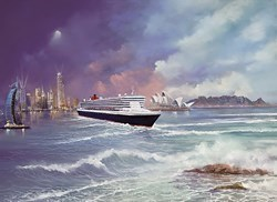 Voyage of Memories - Queen Mary II 2013 by Philip Gray -  sized 20x15 inches. Available from Whitewall Galleries