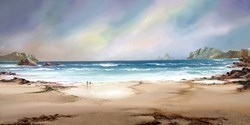 Peaceful Shores by Philip Gray - Embelished Canvas on Board sized 15x30 inches. Available from Whitewall Galleries
