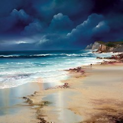Twilight Walk by Philip Gray - Embelished Canvas on Board sized 20x20 inches. Available from Whitewall Galleries