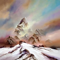 Reach for the Skies by Philip Gray - Embelished Canvas on Board sized 20x20 inches. Available from Whitewall Galleries