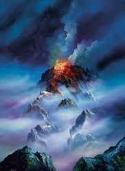 Blazing Clouds by Philip Gray - Embelished Canvas on Board sized 16x22 inches. Available from Whitewall Galleries