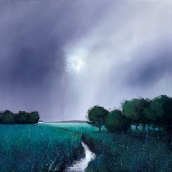 Emerald Meadow by Barry Hilton - Hand Finished Canvas on Board sized 16x16 inches. Available from Whitewall Galleries