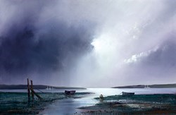 Violet Dawn by Barry Hilton - Hand Finished Canvas on Board sized 26x17 inches. Available from Whitewall Galleries