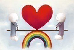 Love From A Distance by Doug Hyde - Limited Edition on Paper sized 20x14 inches. Available from Whitewall Galleries