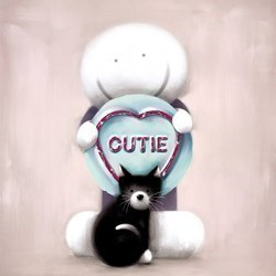 Super Cutie by Doug Hyde - Limited Edition on Paper sized 12x12 inches. Available from Whitewall Galleries