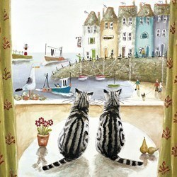 Two of a Kind by Rebecca Lardner - Limited Edition on Canvas sized 14x14 inches. Available from Whitewall Galleries