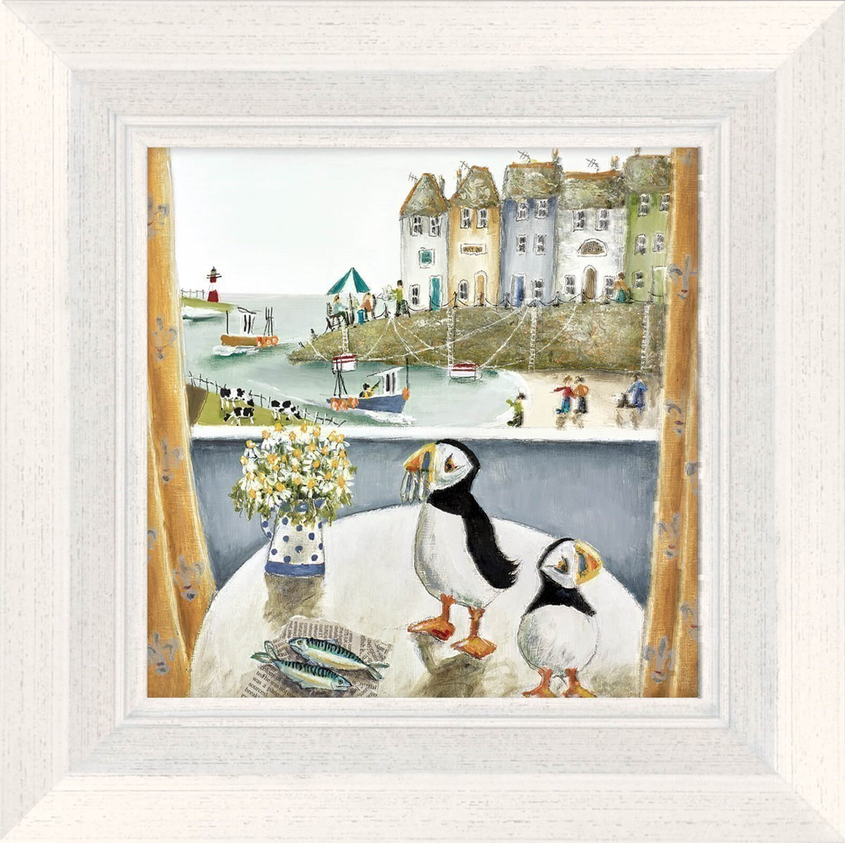 Breakfast Table by Rebecca Lardner - Framed Limited Edition on Canvas
