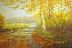Golden Days by James Preston -  sized 22x14 inches. Available from Whitewall Galleries