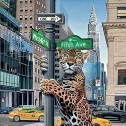 Concrete Jungle by Steve Tandy - Limited Edition on Canvas sized 30x30 inches. Available from Whitewall Galleries